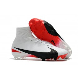 Sklep Buty piłkarskie Nike Mercurial Superfly V FG Biały Czerwony Czarny