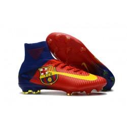 Korki Piłkarskie - Tanie Nike Mercurial Superfly V FG Barcelona FC Niebieski Czerwony Żółty