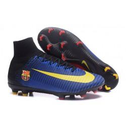 Korki Piłkarskie - Tanie Nike Mercurial Superfly V FG Barcelona FC Niebieski Czerwony Żółty Czarny