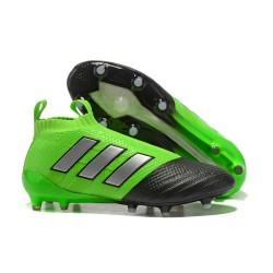 Buty piłkarskie - Tanie Adidas ACE 17+ PureControl FG Zielony Czarny Srebrny