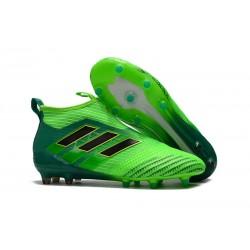 Najnowsze Buty piłkarskie Adidas ACE 17+ PureControl FG Czarny Zielony