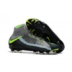 Nowe Buty piłkarskie Nike Hypervenom Phantom 3 DF FG Air Max Szary Czarny Zielony