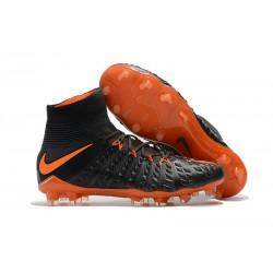 Korki Piłkarskie Meskie - Nike Hypervenom Phantom 3 DF FG Czarny Pomarańczowy