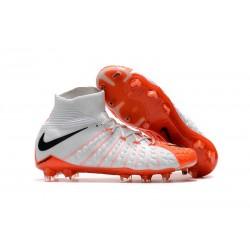 Buty piłkarskie Nike Hypervenom Phantom 3 DF FG Biały Pomarańczowy Czarny