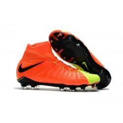 Najnowsze Korki Piłkarskie Nike Hypervenom Phantom 3 DF FG Pomarańczowy Volt Czarny