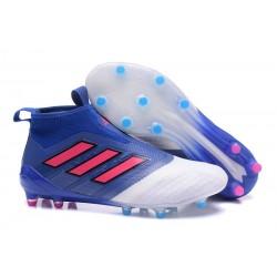 Buty piłkarskie Sklep Adidas ACE 17+ PureControl FG Niebieski Czerwony Biały