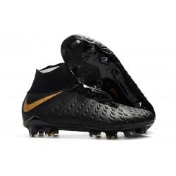 Nowe Buty piłkarskie Nike Hypervenom Phantom 3 DF FG Czarny metaliczny Żywe złoto