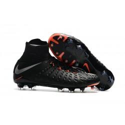 Buty piłkarskie Nike Hypervenom Phantom 3 DF FG Czarny metaliczny srebrny czarny antracyt