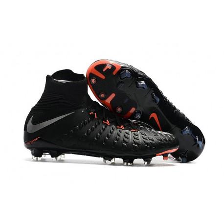 sports shoes a8353 15cfd Buty piłkarskie Nike Hypervenom Phantom 3 DF FG Czarny metaliczny ...
