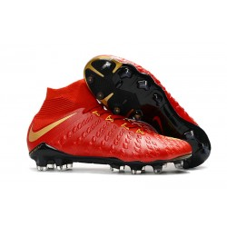 Nowe Buty piłkarskie Nike Hypervenom Phantom 3 DF FG czerwone złoto