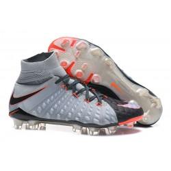 Korki Piłkarskie Meskie - Nike Hypervenom Phantom 3 DF FG Rising Fast Pack Szary Czarny Pomarańczowy