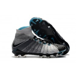 Tanie Buty piłkarskie Nike Hypervenom Phantom 3 DF FG Szary Czarny Niebieski