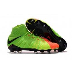 Tanie Buty piłkarskie Nike Hypervenom Phantom 3 DF FG Elektryczny Zielony Czarny Hyper Pomaranczowy
