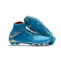 Najnowsze Korki Piłkarskie Nike Hypervenom Phantom 3 DF FG Niebieski Biały Pomarańczowy