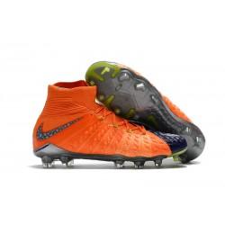 Najnowsze Korki Piłkarskie Nike Hypervenom Phantom 3 DF FG Gleboki Królewski Niebieski Chrom Pomarańczowy