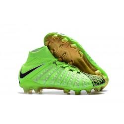 Nowe Buty piłkarskie Hypervenom Phantom III DF EA Sports Zielone Czarne złoto