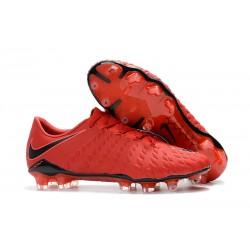Nowe Korki Piłkarskie Nike HyperVenom Phantom III FG Czerwony Czarny Jasny Karmazyn
