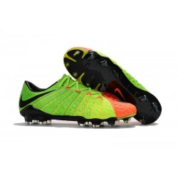 Nowe Buty piłkarskie Nike HyperVenom Phantom 3 FG Zielony PomaraŃczowy Czarny