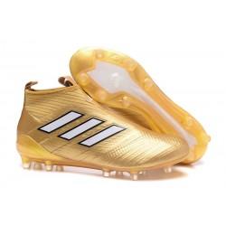 Korki Piłkarskie Adidas ACE 17+ PureControl FG - Meskie Złoty Biały