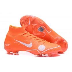 Tanie buty piłkarskie Nike Mercurial Superfly VI 360 Elite FG Off-White For Nike Pomarańczowy Biały Niebieski Żółty