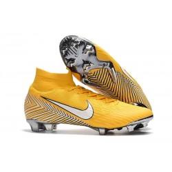 Tanie buty piłkarskie Nike Mercurial Superfly VI 360 Elite FG Amarillo Zólty Czarny Bialy