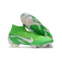 Tanie buty piłkarskie Nike Mercurial Superfly VI 360 Elite FG Zielone Srebro