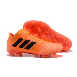 Buty piłkarskie Meskie Adidas Nemeziz Messi 18.1 FG Pomarańczowy Czarny
