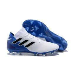 Buty piłkarskie Meskie Adidas Nemeziz Messi 18.1 FG Biały Niebiesko