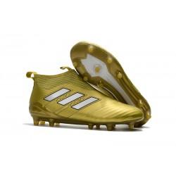 Najnowsze Buty piłkarskie Adidas ACE 17+ PureControl FG Złoty Biały