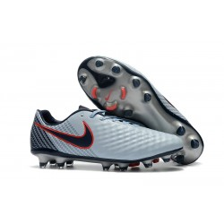 Buty piłkarskie Meskie Nike Magista Opus 2 FG Szary Czarny Czerwony