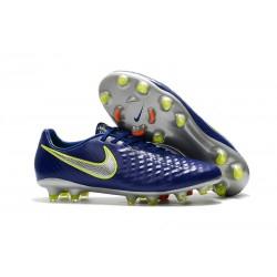 Profesjonalne Korki Piłkarskie Nike Magista Opus II FG Niebieski Volt Srebrny
