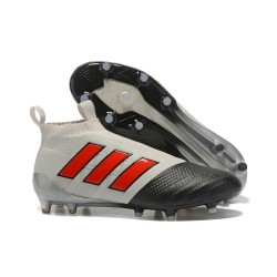 Buty piłkarskie - Tanie Adidas ACE 17+ PureControl FG Szary Czerwony Czarny