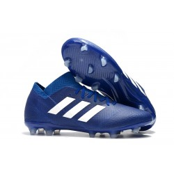 Buty piłkarskie Meskie Adidas Nemeziz Messi 18.1 FG Niebieski Biały