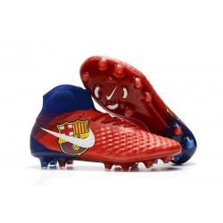 Nowe Buty piłkarskie Nike Magista Obra II FG Barcelona Czerwony Niebieski