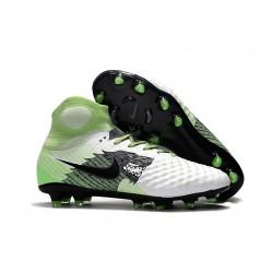 Profesjonalne Buty piłkarskie Nike Magista Obra II FG Biały Zielony Czarny