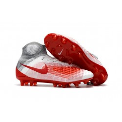 Najnowsze Korki Piłkarskie Nike Magista Obra II FG Biało Czerwony