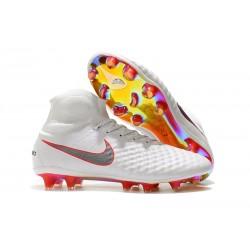 Korki Piłkarskie Meskie - Nike Magista Obra II FG Biały Szary Czerwony