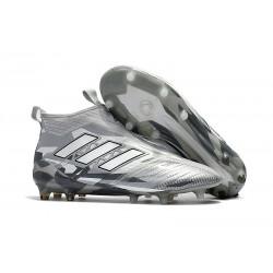 Nowe Buty piłkarskie Adidas ACE 17+ PureControl FG Wyczyść Szary Biały Rdzeń Czarny