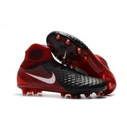 Nowe Buty piłkarskie Nike Magista Obra II FG Czarny Biały Hyper Czerwony