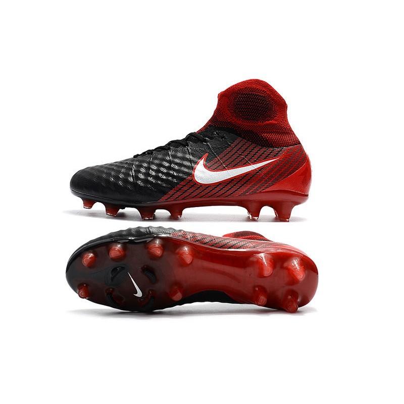 huge discount aacba e9a56 Nowe Buty piłkarskie Nike Magista Obra II FG Czarny Biały Hyper Czerwony