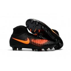 Profesjonalne Buty piłkarskie Nike Magista Obra II FG Czarny Pomarańczowy