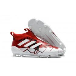 Buty piłkarskie Sklep Adidas ACE 17+ PureControl FG Czerwony Biały Czarny