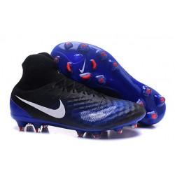 Nike Magista Obra 2 FG - Buty piłkarskie Nike Czarny Niebieski Biały