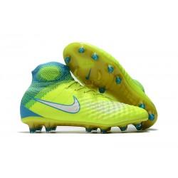 Najnowsze Korki Piłkarskie Nike Magista Obra II FG Wolt Biały Niebieski