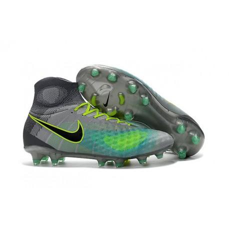 nowe przyloty autoryzowana strona sportowa odzież sportowa Korki Piłkarskie Meskie - Nike Magista Obra II FG Zielony Szary Czarny