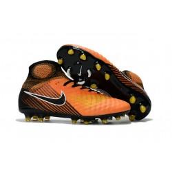 Korki Piłkarskie Sklep Nike Magista Obra II FG Pomarańczowy Żółty Czarny