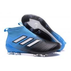Korki Piłkarskie Adidas ACE 17+ PureControl FG - Meskie Czarny Niebieski