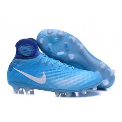 Korki Piłkarskie Sklep Nike Magista Obra II FG Niebiesko Biały