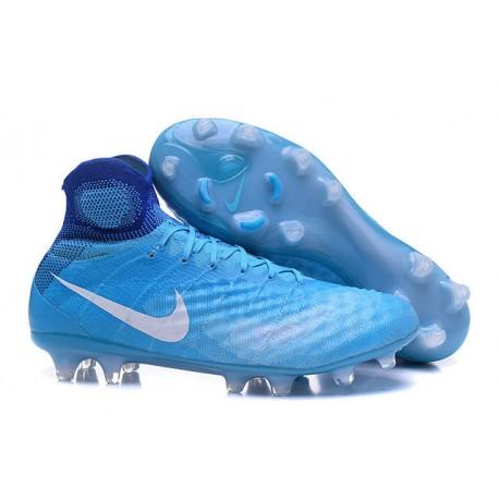 najlepszy rozmiar 7 Zjednoczone Królestwo Korki Piłkarskie Sklep Nike Magista Obra II FG Niebiesko Biały