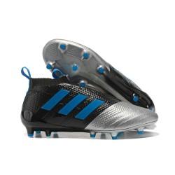 Najnowsze Buty piłkarskie Adidas ACE 17+ PureControl FG Czarny Srebrny Niebieski